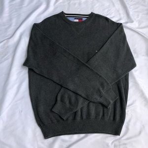 Tommy Hilfiger Vintage Charcoal Gray Sweater XL